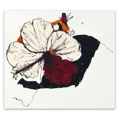 Grabado Orquídea artista Paloma Maturana 35x50 cm