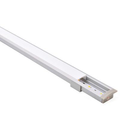 Perfil para cinta led embutido plano 8x23 mm 2 m