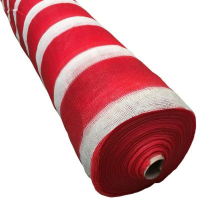 Malla raschel 80% 2,10x100 m rojo/blanco  / 80 Gramos por m2