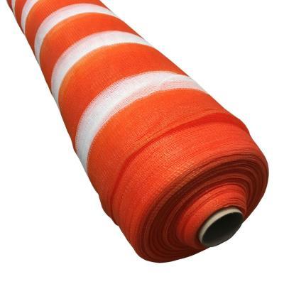 Malla raschel 4,20x100 m naranjo/blanco