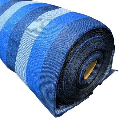 Malla raschel 80% 4,20x100 m azul/blanco/negro  / 80 Gramos por m2