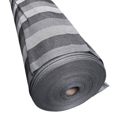 Malla raschel 80% 4,20x100 m gris/blanco/negro  / 80 Gramos por m2
