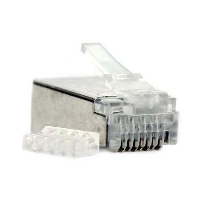 Conector rj45 cat6 macho ftp 2 piezas
