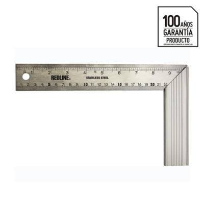"Escuadra acero 10"" mango aluminio"