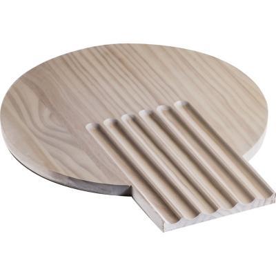 Tabla pino alistonado redonda 35 cm natural