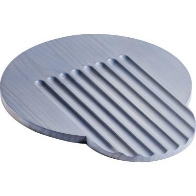 Tabla pino alistonado redonda 35 cm gris