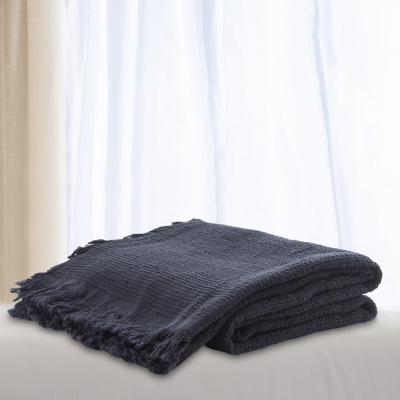 Manta lisa gris 125x150 cm