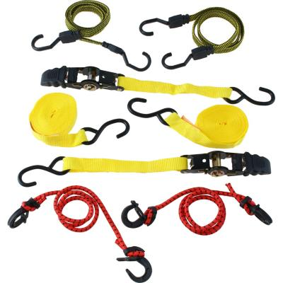 Pack 2 cintas y amarras elástica