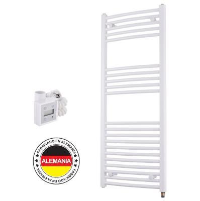 Toallero eléctrico blanco curvo 50x117 cm + termostato Ktx3