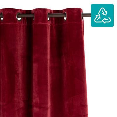 Cortina tela 135x220cm Velvet rojo
