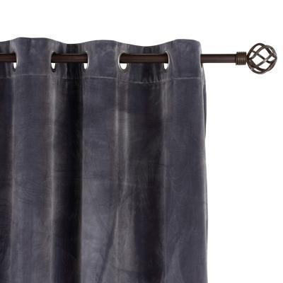 Cortina tela 135x220cm Velvet gris