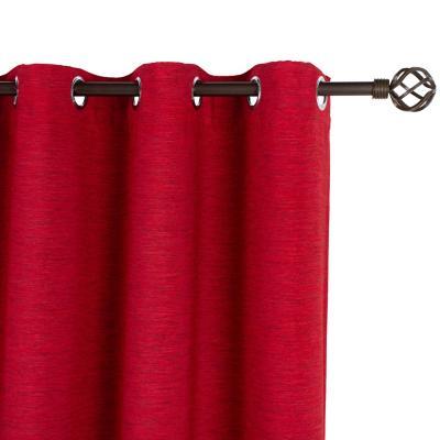 Cortina black-out Cefalú 145x250 cm rojo
