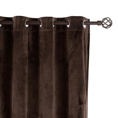 Cortina tela 135x220cm Velvet café