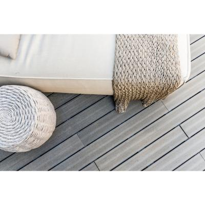 Tabla ecodeck marfil: 125x25x2400 mm