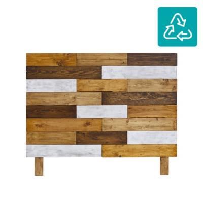 Respaldo de madera reciclada 2 plazas