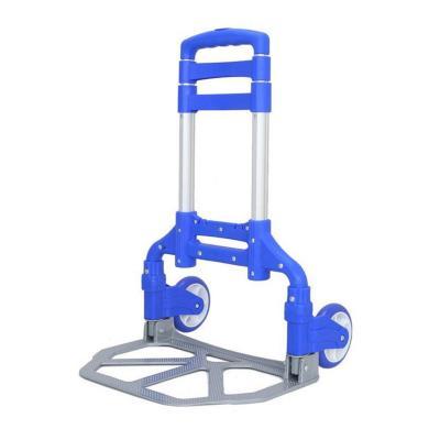 Carro de carga plegable azul