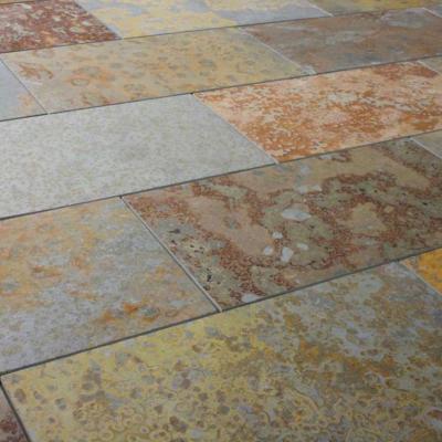 Palmeta piedra pizarra oxidada 15x60 cm piso y muro