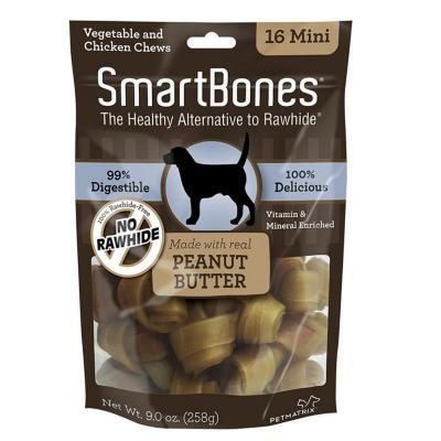 Huesos  peanut butter mini 16 unidades