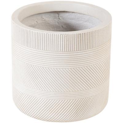 Macetero fibra line sand 39x39 cm