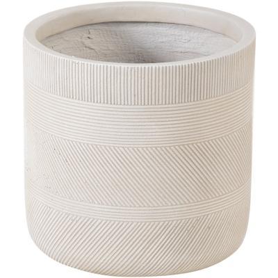 Macetero fibra line sand 30x30 cm