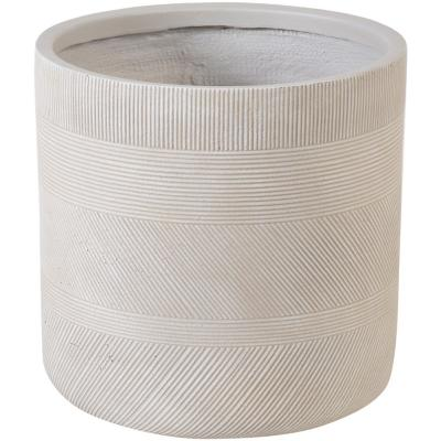 Macetero fibra line sand 24x24 cm