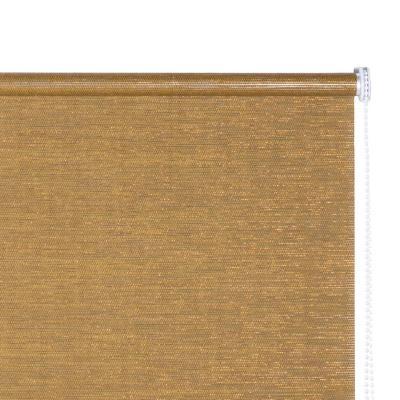 Cortina enrollable Text 120x165 cm dorada