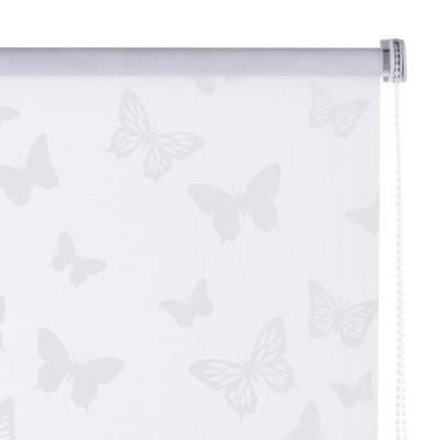Cortina enrollable Mariposa 100x100 cm blanca