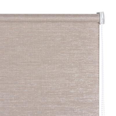Cortina enrollable Text 100x100 cm plata