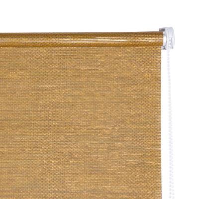 Cortina enrollable Text 160x165 cm dorada