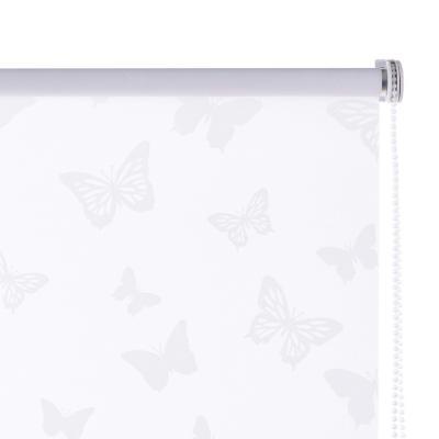 Cortina enrollable Mariposa 80x165 cm blanca