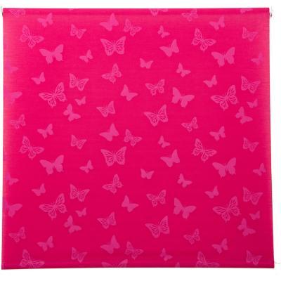 Cortina enrollable Mariposa 100x100 cm rosada