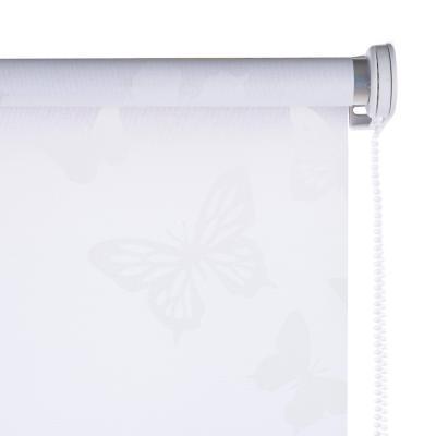 Cortina enrollable Mariposa 160x165 cm blanca
