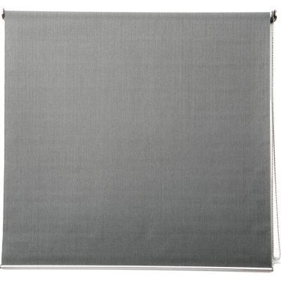 Cortina enrollable de tela premium 100x100 cm gris