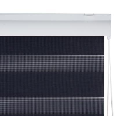 Cortina enrollable duo 100x100 cm gris oscuro