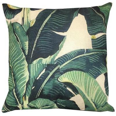 Cojin hojas tropicales calipso lino