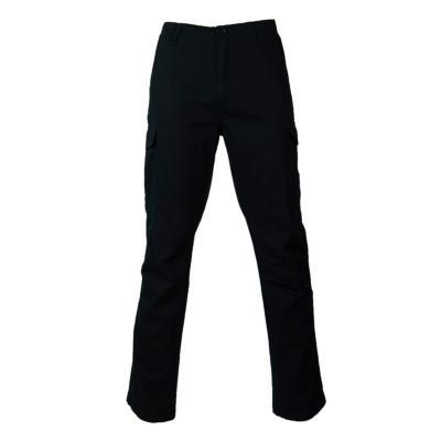 Pantalón cargo gabardina algodón negro 42