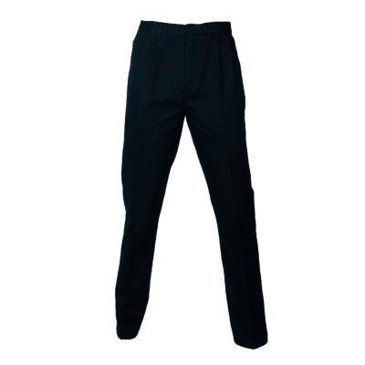 Pantalón gabardina algodón con pinzas azul marino 44