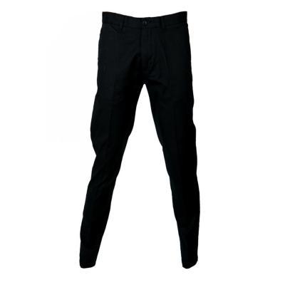 Pantalón frente plano spandex hombre negro 44