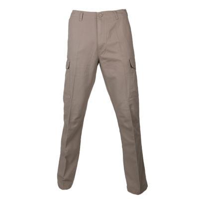 Pantalón cargo gabardina algodón beige 48