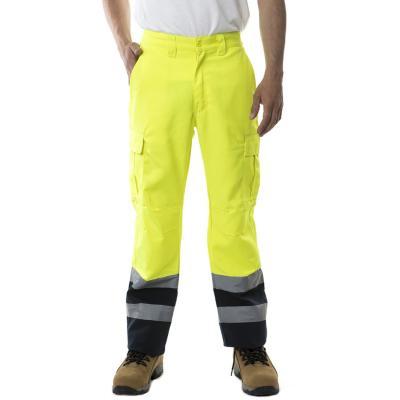 Pantalón cargo twill flúor amarillo flúor S