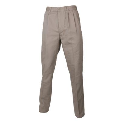 Pantalón gabardina algodón con pinzas beige 44