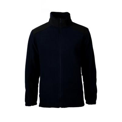 Micropolar con aplicación hombre negro azul marino XL