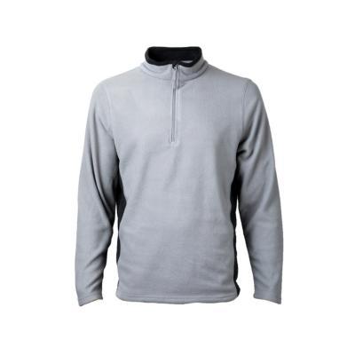 Micropolar con cierre bicolor hombre gris XL