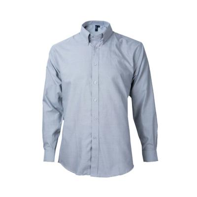 Camisa oxford manga larga pizarra M