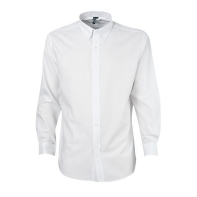 Camisa oxford manga larga blanco 2XL