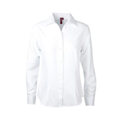 Blusa oxford manga larga blanco L
