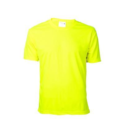 Polera cuello polo manga corta fluor amarillo fluor XL