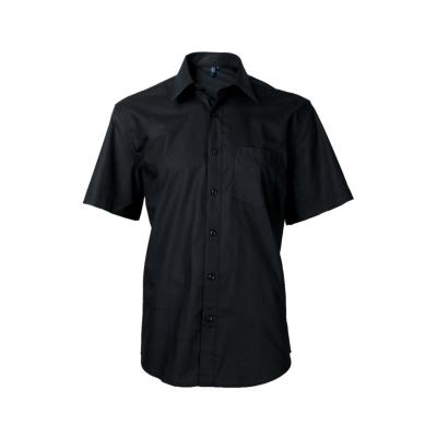Camisa clásica manga corta negro 43