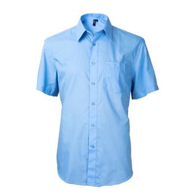 Camisa clásica manga corta celeste 43