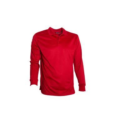 Polera dry fit manga larga hombre rojo 3XL